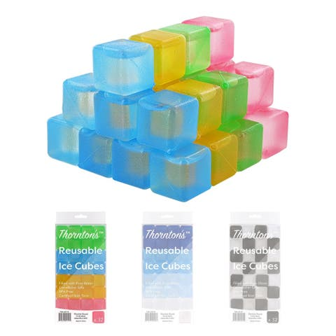 Thornton's Reusable Plastic Ice Cubes, Choice of Color