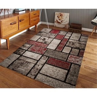 Giuliana Dusty Brick Area Rug F 7513 Red-Brown 4' x 5' - 4' x 5'
