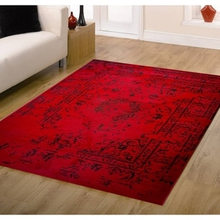 Jaime Red Area Rug - 4' x 5'