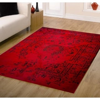 Jaime Red Area Rug - 5' x 7'