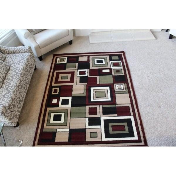 Karyn Red Indoor Area Rug - 5' x 7'