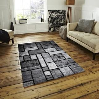 Giuliana Dusty Brick Area Rug F 7513 Gray-Black 4' x 5' - 4' x 5'