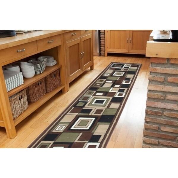Karyn Brown/Beige Indoor Area Rug - 2' x 7'