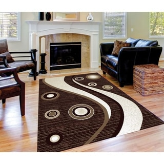 Spotted Brown Area Rug F 7508 Brown-White 2' x 3' - 2' x 3'