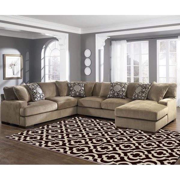 Mirror Rehash Brown Area Rug - 5' x 7'