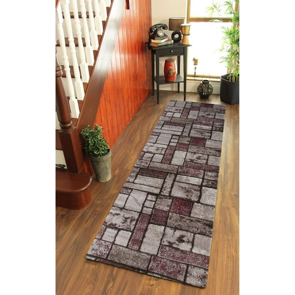 Giuliana Dusty Brick Area Rug F 7513 Red-Brown 3' x 8' - 3' x 8'