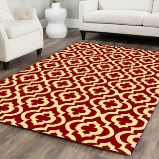 Mirror Rehash Red Area Rug - 5' x 7'