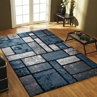 Giuliana Dusty Brick Area Rug F 7513 Blue-Gray 4' x 5' - 4' x 5'