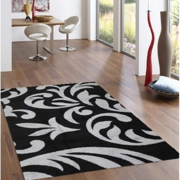 Knoxville Area Rug F 7510 Black-Gray 8' x 10' - 8' x 10'