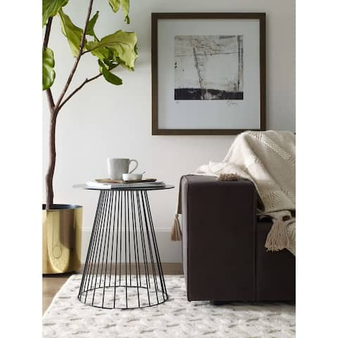 Carbon Loft Doyle Side Table in Midnight Black