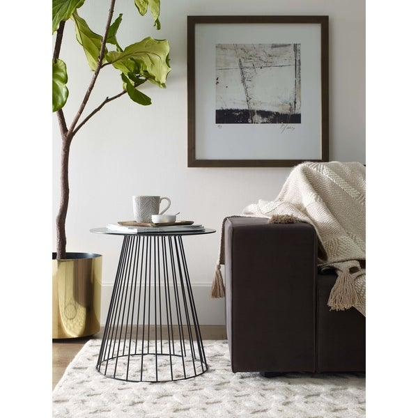 Carbon Loft Doyle Side Table in Midnight Black. Opens flyout.