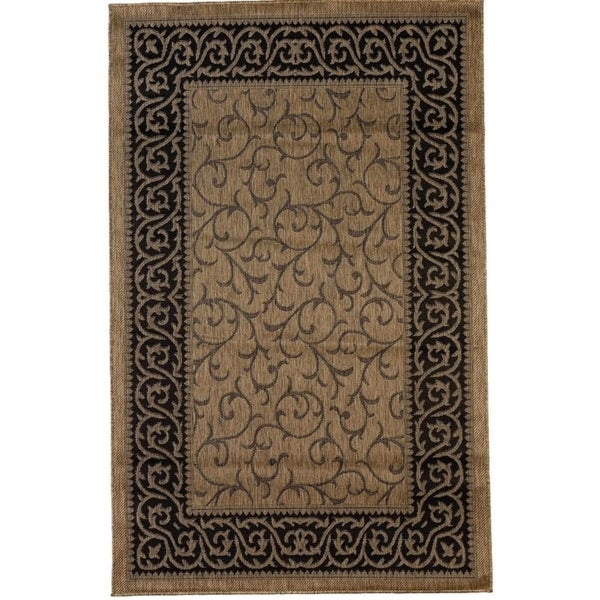 Key West Contemporary Brown Black Indoor Outdoor Flatweave Rug 7 10 X 9 Free Shipping Today 25452818