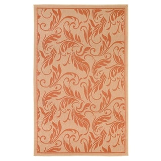 Breeze Beige/Terracotta Flatweave Indoor/Outdoor Area Rug - 8'10 x 11'9