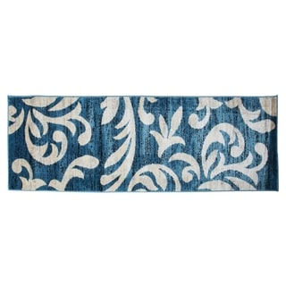 Knoxville Area Rug F 7510 Blue-White 3' x 8' - 3' x 8'