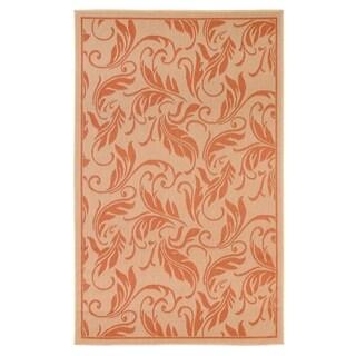 Breeze Beige/Terra Indoor/Outdoor Flatweave Contemporary Rug - 7'10 x 9'10