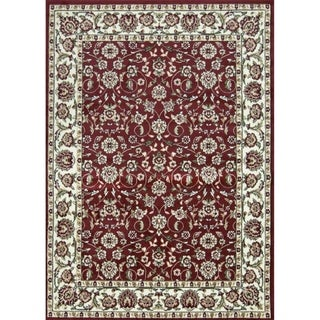 Sun Ray Outline Red Area Rug - 5' x 7'