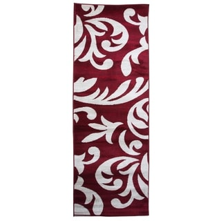 Knoxville Area Rug F 7510 Red-White 3' x 8' - 3' x 8'