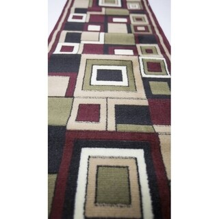 Plaza Red Area Rug - 3' x 8'