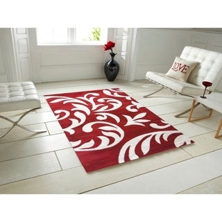 Knoxville Area Rug F 7510 Red-White 4' x 5' - 4' x 5'