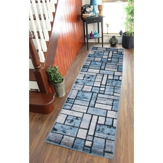 Giuliana Dusty Brick Area Rug F 7513 Blue-Gray 3' x 8' - 3' x 8'