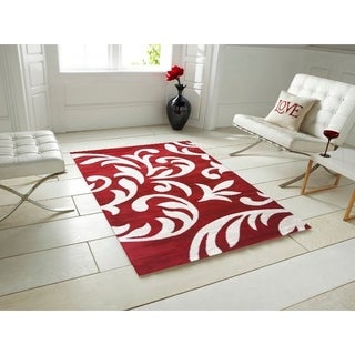 Knoxville Area Rug F 7510 Red-White 5' x 7' - 5' x 7'