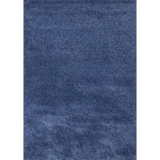 Super Shaggy Blue Area Rug - 5' x 7'