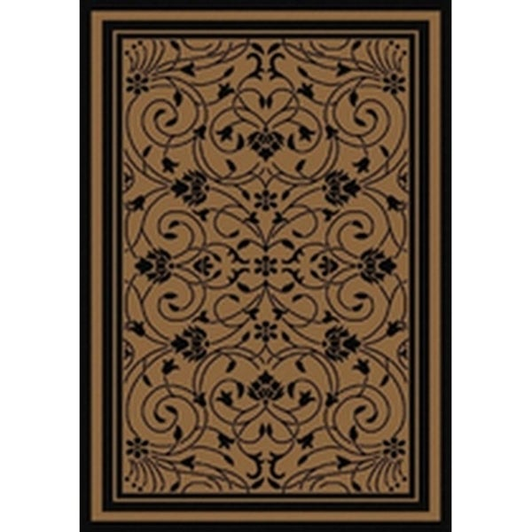 Baroque Contemporary Black Brown Flatweave Patio Pool Camp And Picnic Indoor Outdoor Rug 7 10 X 9 Free Shipping Today 25452997