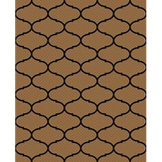 Ribbon Brown/Black Indoor/Outdoor Flatweave Contemporary Patio, Pool, Camp, and Picnic Rug - 8' 10 x 11' 9
