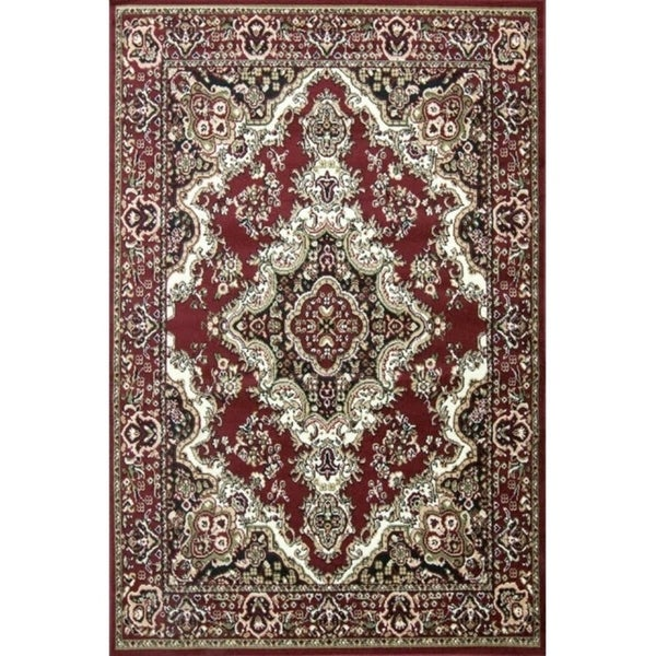 Shop Oriental Classic Red Black Area Rug 2 X 3 Free Shipping