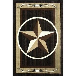 Star Brown/Beige Area Rug - 2' X 3'