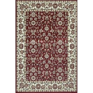 Sun Ray Outline Red Area Rug - 2' X 3'