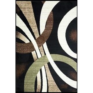 Coleen Abstract Black/Beige Area Rug - 2' X 3'