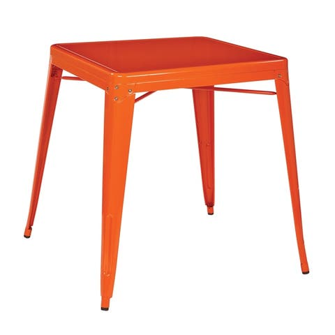 OSP Home Furnishings Patterson Metal Table