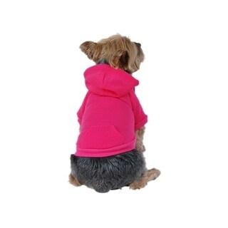 Anima Solid Pink Winter Sweatshirt Hoodie Jacket Coat for Pets Dogs Puppy