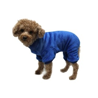 Anima Grey/White Super Soft Fleece Overall Sleeping Wear for Small Breeds Dogs Puppy
