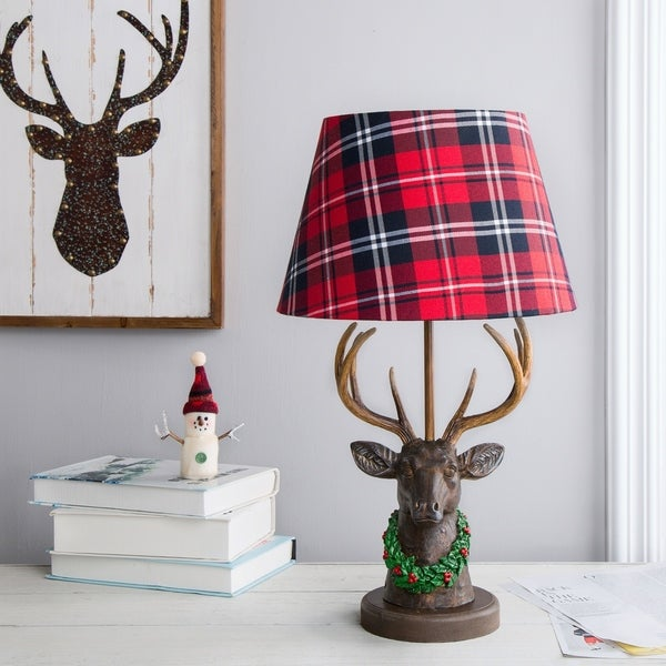 Shop Glitzhome Christmas Table Lamp Free Shipping Today