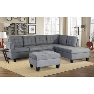 Harper&Bright Designs 3-piece Sectional Sofa with Chaise and Ottoman