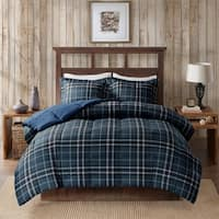 Woolrich Flint Navy CozySpun Down Alternative Comforter 3-Piece Set