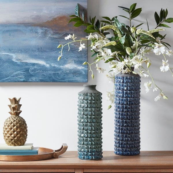 Madison Park Palomino Textured Vase 2-Color Option