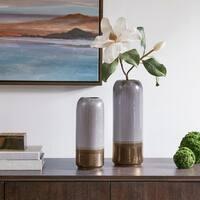Madison Park Amelia Light Grey Vase Set of 2