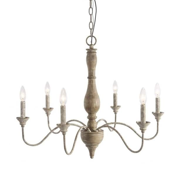 Lnc 6 Light French Country Chandelier Lighting Rustic