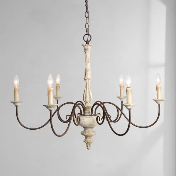Persian White French Country Chandelier