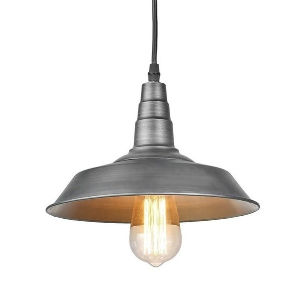 Shop LNC Black Steel 1-light Barn Pendant Lighting