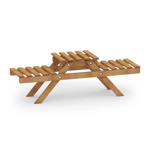 Porch & Den Chester 3-tier Bamboo Planter Shelf