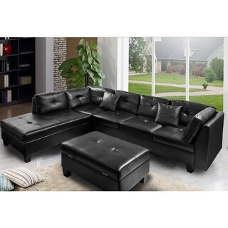 Harper & Bright Designs Sectional Sofa with Chaise and Storage Ottoman