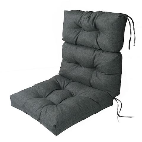 LNC Indoor Outdoor Lounge Chair Cushions Patio High Back Cushion Grey