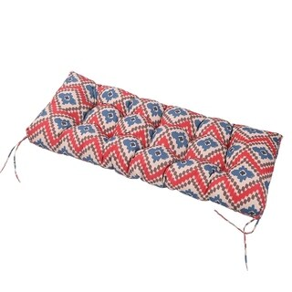 LNC Tufted Indoor Outdoor Seat Cushions Patio Bench Cushion Ikat Red - N/A