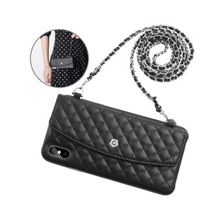 Cobble Pro Premium Synthetic Leather Chain Wallet Phone Case with Card Pocket for Apple iPhone XS Max