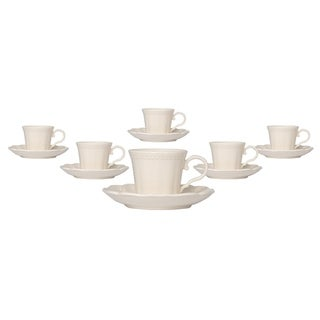Red Vanilla Classic Espresso Cup and Saucer Set of 6