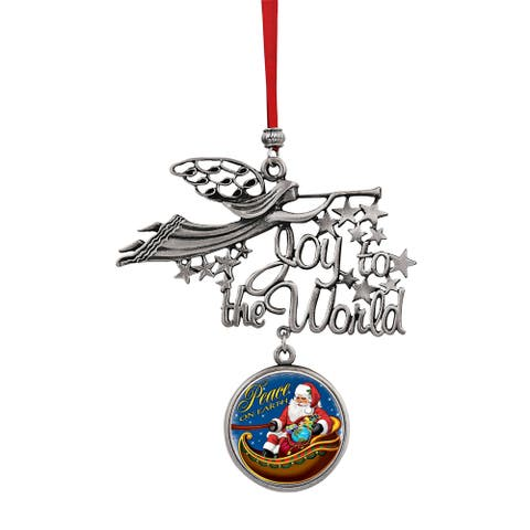 Joy to the World Santa Peace On Earth JFK Half Dollar Coin Ornament
